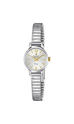 Festina Damen Analog Quarz Uhr mit Edelstahl Armband F20262/2