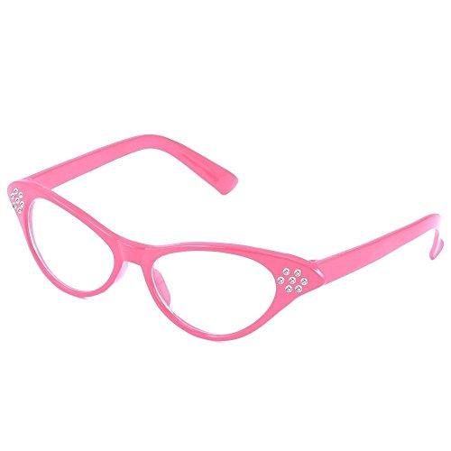 1950Estilo Grasa de Rock 'n' Roll de disfraz gafas de fiesta, color rosa negro rosa