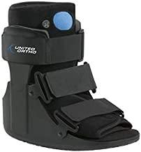 United Ortho Short Air Cam Walker Fracture Boot, Medium, Black