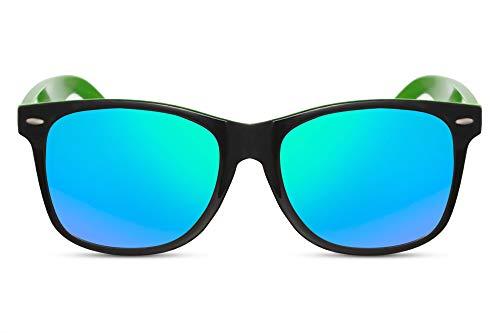 Cheapass Gafas de Sol Clásicas Brillantes Montura Exterior Negra y Montura Interior...