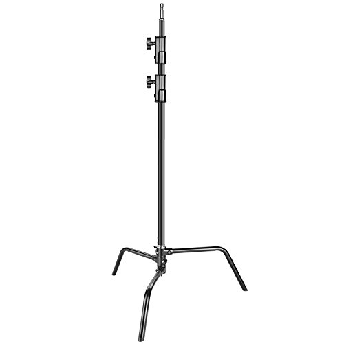 Neewer Heavy Duty Light Stand with Detachable Base, 5-10 feet/1.6-3.2 Meters Adjustable C Stand with 2 Risers for Studio Photography Location Shooting, Aluminum Alloy, Max Load Capacity 22 pounds