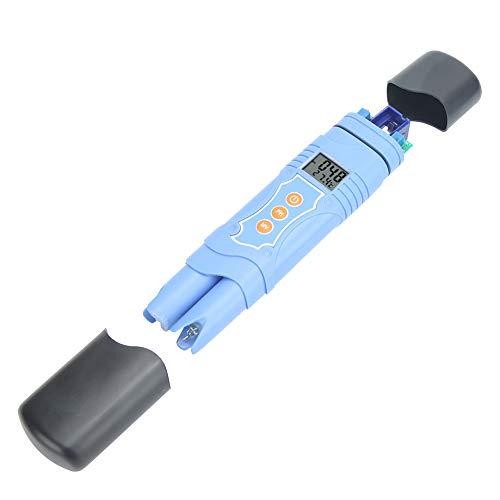 Gatuxe Medidor de pH, probador de pH, Pantalla LCD de tamaño de Bolsillo, liviano para Fuentes de Agua, para Cultivo sin Suelo para acuarios