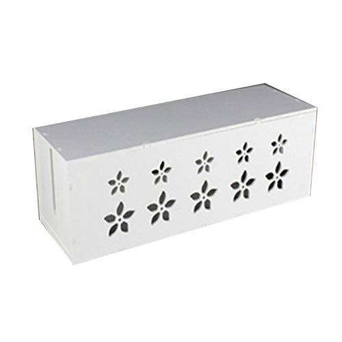 MAOXI Caja de Almacenamiento de zócalo Organizador de Seguridad de Cable Caja de gestión ordenada