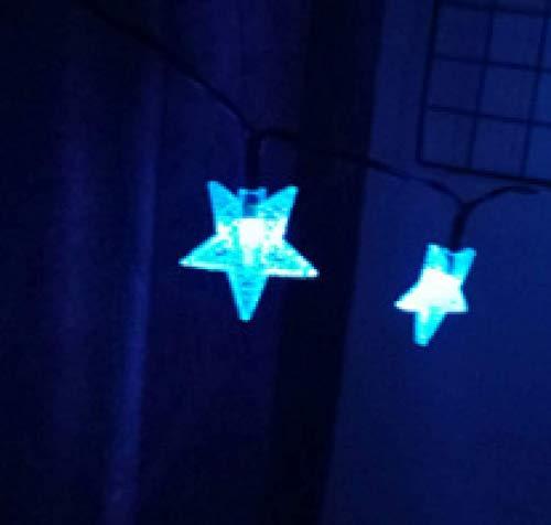 LED Solar Star String Lights Outdoor Lawn Garden Decoration Flashing Lantern String 8 Patterns 6.5m 30 Lights D