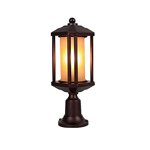 Lanterna da Esterno Lampada da paletto Tradizionale Classica con Base a molo Villa Colonica da fienile Lampada da Terra Colonna da Esterno IP23 Lampada a candelabro Victoria con Paralume Caldo