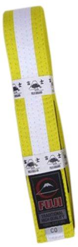Fuji BJJ Belt, Yellow/White, A2