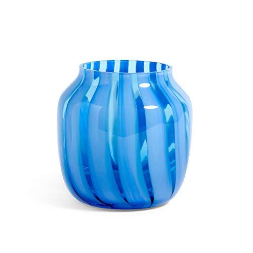 Hay 507376 Vase, Glas, hellblau