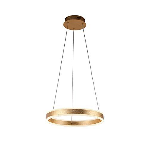 Lampara Schuller, HELIA 50 cm. Acabado pan de oro