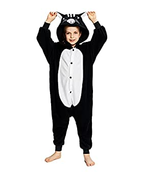 NEWCOSPLAY Unisex Children Pyjamas Halloween Costume(Black Cat 6