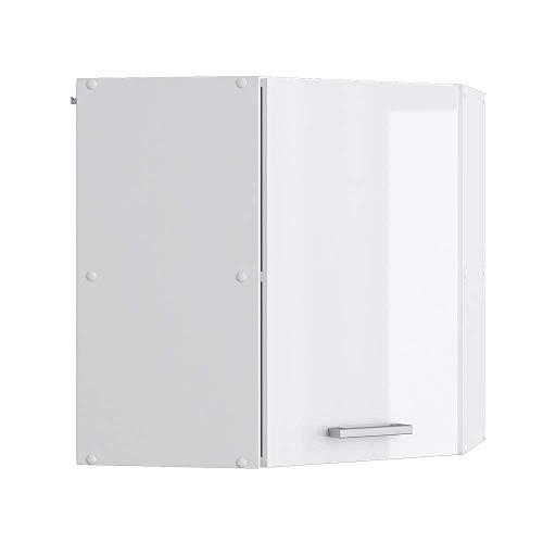 Vicco Küchenschrank Hängeschrank Unterschrank Küchenschränke Küchenunterschrank Arbeitsplatte, Möbel verfügbar in anthrazit und weiß (weiß ohne Arbeitsplatte, Eckhängeschrank 57 cm)