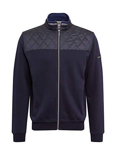 Bugatti Herren Sweatshirt Jacke Strickjacke, Marine, 3XL