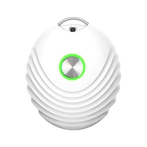HXML Collar De Purificador De Aire Portátil Mini Ambientador Ionizador Generador De Iones Negativos De Poco Ruido para La Familia,Blanco