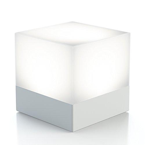 enevu CUBE LED Würfel mit Weiß & Farbwechsel Licht I Campinglampe I Stimmungslicht I Schlummerlicht I Spritzwassergeschützt inkl. 3xAAA Duracell