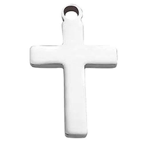 (J) アクセサリーパーツ いろいろな十字架クロスステンレスパーツ (デザイン)f 部品 材料 DIY 手芸 接続金具 金属部品 チャーム 穴あき 手作り ハンドメイド シンプル