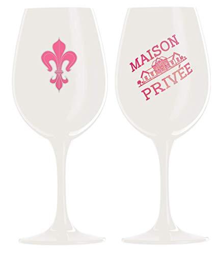 Prime Presents 2er Set Gläser schwarz pink Kristallglas Wein Champagner Gläser XL XXL-Kelche Kristall