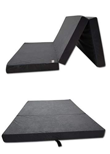 Odolplusz Klappmatratze Faltmatratze Klappbett - Made IN EU - als Matratze Gästebett Gästematratze einsetzbar (Grau, 80 x 200 cm)