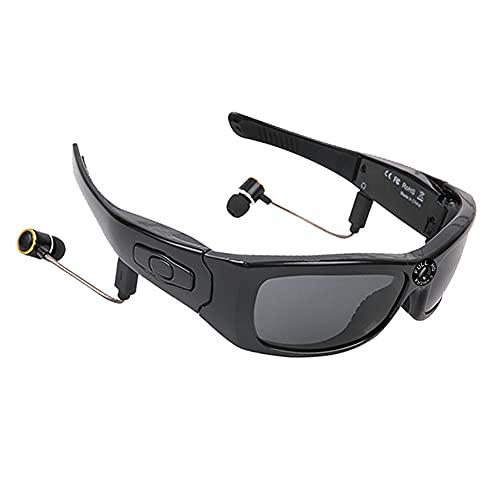 AIMAISEN Drahtlose Bluetooth-Brille Outdoor-Sport-Headset für Herren 1080P HD-Kamera Videorecorder Foto MP3-Player Polarisierte Smart-Sonnenbrille zum Radfahren