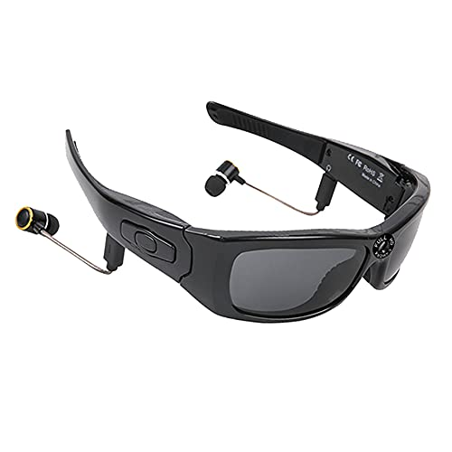 AIMAISEN Gafas Bluetooth inalámbricas Auriculares deportivos al aire libre para hombres Cámara HD 1080P Grabadora de video Foto MP3 Gafas de sol polarizadas inteligentes para ciclismo Correr