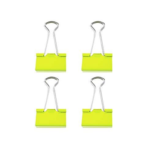 SGMYMX Clip de Dogo Clips de Metal for encuadernación con Grapas, for el Cierre de Bolsas de plástico Oficina de Archivo Fijo organizar 19mm, 25mm, 32mm Clip de Papel (Color : 19mm*30pcs)