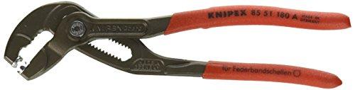 KNIPEX Federbandschellenzange (180 mm) 85 51 180 A SB (SB-Karte/Blister)