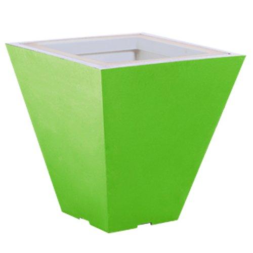 Green City Square S Pot de Fleurs Carré à Réserve d'Eau Plastique Vert Anis