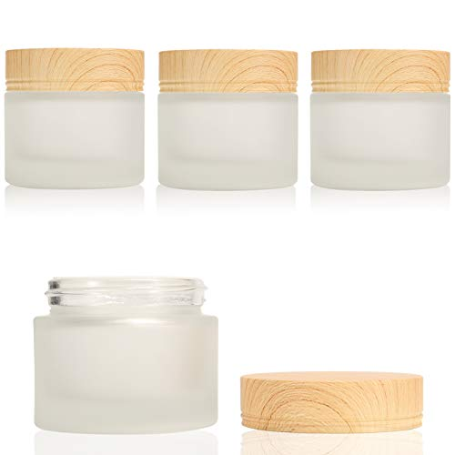 Glass Cosmetic Containers with Leakproof Lids (4 Pack)