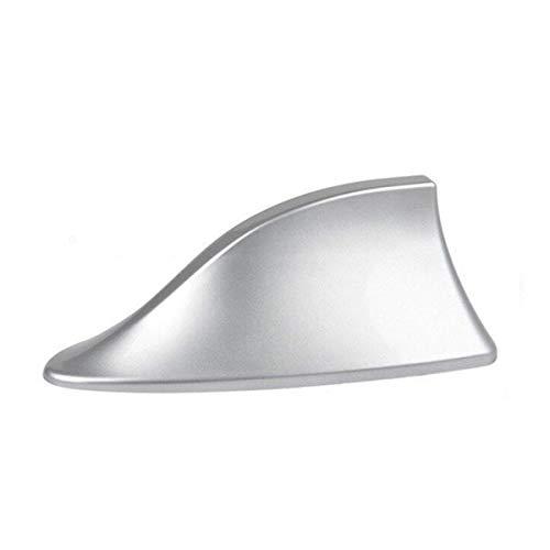 GOZAR Abs Kunststoff Dach Stil Haifischflosse Antenne Funksignal Antennen Universial Für Die Meisten Autos-Silber