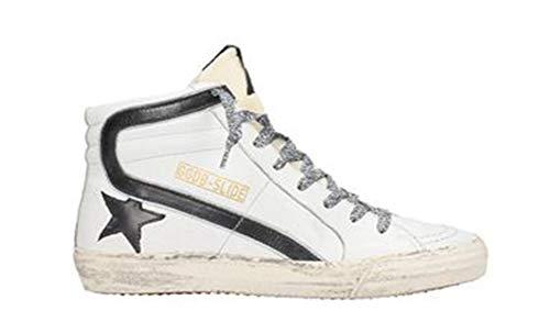 Golden Goose Damenschuhe Frankreich Leder Sneakers GGDB High Top Slide, - zebra - Größe: 36.5 EU