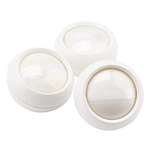 Healifty Powder Case Powder Container Makeup Case für die Reise 3St