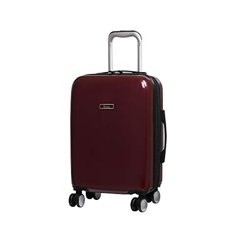 it luggage Sheen 8 Wheel Hard Shell Single Expander Suitcase, 56 cm, 47 L, Wine Red