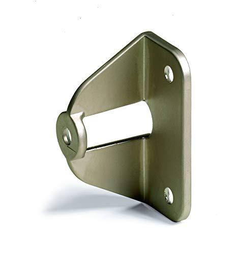 Griffadapter für Faltschiebetüren für 20 mm Türstärken vernickelt matt