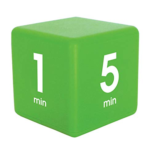 Datexx The Miracle TimeCube Timer, 1, 5, 10 and 15 Minutes, for Time Management, Kitchen Timer, Kids Timer, Workout Timer, Green
