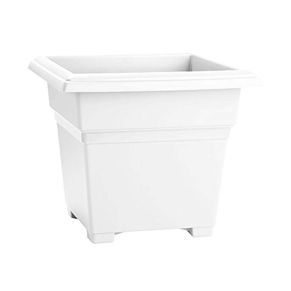 Countryside Square Tub Planter, White, 18-Inch