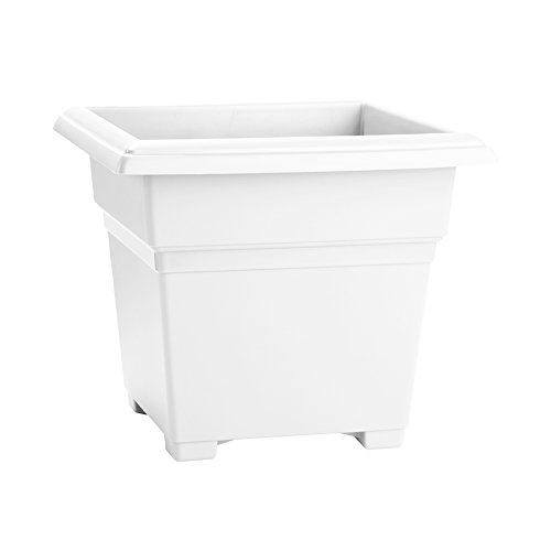 Novelty Mfg Co 26182 Countryside Square Tub Planter, White, 18-Inch Length