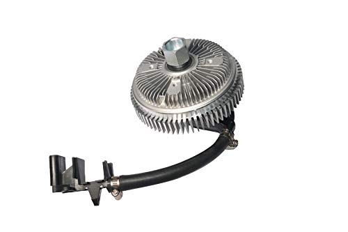 Electronic Radiator Fan Clutch with Harness - Compatible with Chevrolet, GMC & Buick Vehicles - Trailblazer 2002-2009, Envoy, Rainier, Ascender, Bravada, 9-7x - Replaces 25790869, 622001, 15293048