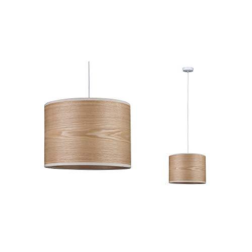 Paulmann 79630 Neordic Neta Pendelleuchte max. 1x20W Hängelampe für E27 Lampen Deckenlampe Weiß 230V Holz/Metall ohne Leuchtmittel