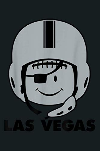 Las Vegas Football Smile Pirate Raider Eye Helmet: Notebook Planner - 6x9 inch Daily Planner Journal, To Do List Notebook, Daily Organizer, 114 Pages