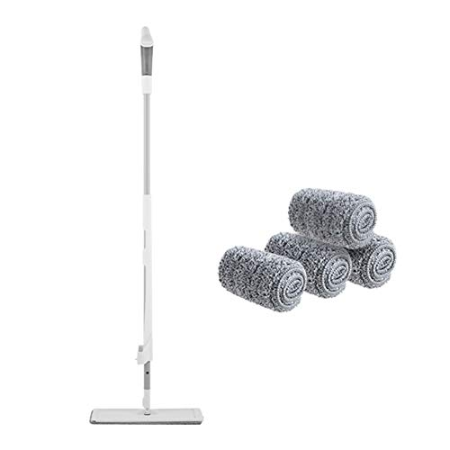 nuli Jet d'eau Mop étage, avec 2 tampons réutilisables et Rechargeables, 360 degrés Rotatif, Convient for Tuiles de Bois Franc de marbre (Couleur : Mop B)