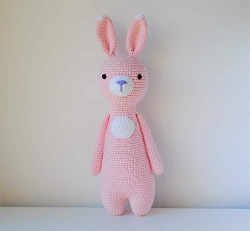Lapin peluche 34cm crocheté main Amigurumi Marshmallow Toys