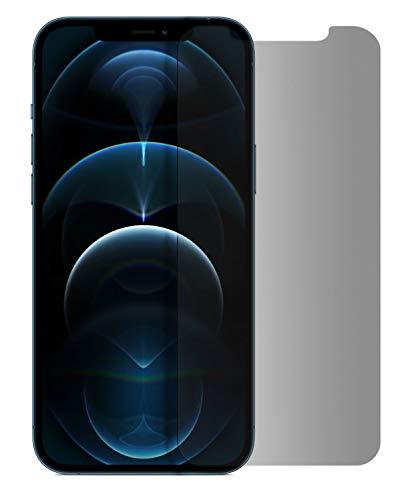 MyGadget Blickschutz Folie für Apple iPhone 12 Pro Max - Anti Spy Panzerglas Display Schutzfolie 9H Glasfolie - Abgerundete Full Screen Privacy Protector