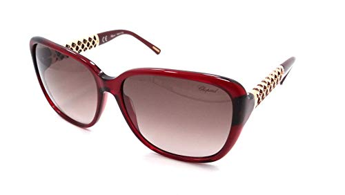 Chopard Gafas de Sol Mujer SCH-184S-0954 (Diametro 58 mm), Red/BrownShaded, 58/16/135 Unisex-Adult