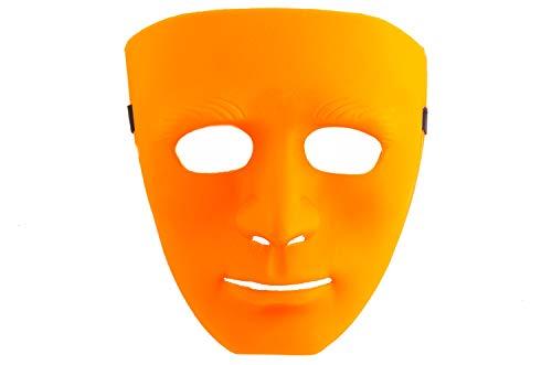 shenky Masken für Party Halloween Fasching Fussball Länder Guy Fawkes (one-size, Neutral orange)