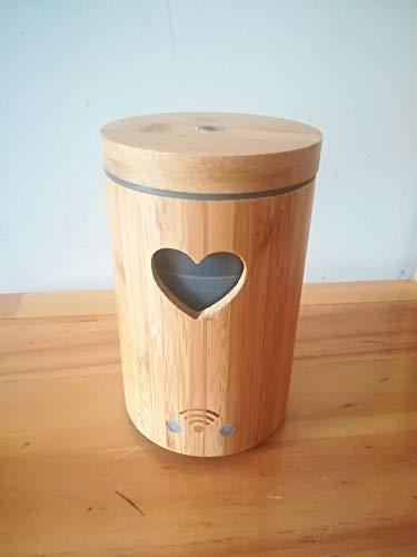 Leyruk Diffusore di aromi Smart WiFi da 160 ml compatibile con Alexa Bamboo Diffusore di aromi di olio essenziale umidificatore ad ultrasuoni con 7 luci a LED colorate e spegnimento automatico