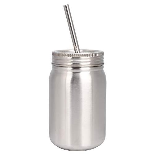 Homeriy Hogar 700ml taza de acero inoxidable botella de agua al aire libre taza térmica con paja de tapa