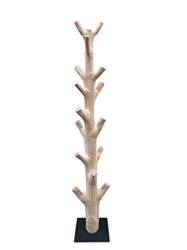 Kinaree Perchero de pie con forma de tronco de mango y...