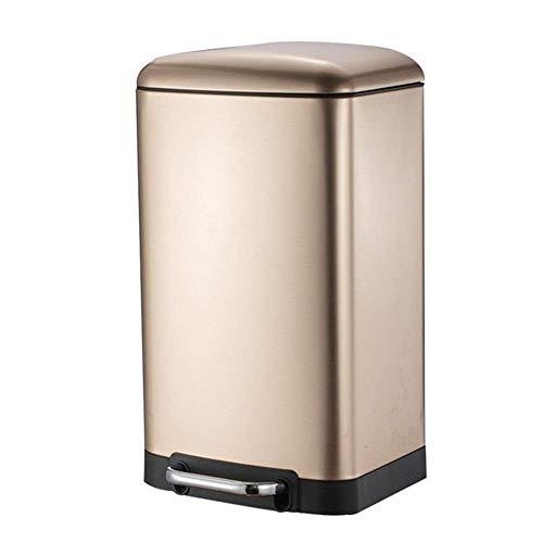 papelera peque/ña con pedal en pl/ástico y metal cubo de basura para tirar residuos en la cocina y el ba/ño iDesign Cubo con tapa para la basura blanco
