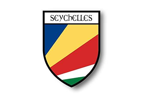 Akachafactory Aufkleber Sticker autoaufkleber Wappen Schild Flagge flaggen Fahne Seychellen