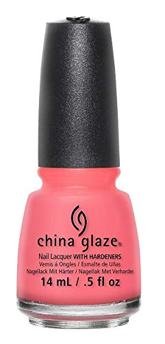 China Glaze Nail Lacquer with Hardner - Collection 2015 Road Trip - pinking Out The Window, 1er Pack (1 x 14 ml)