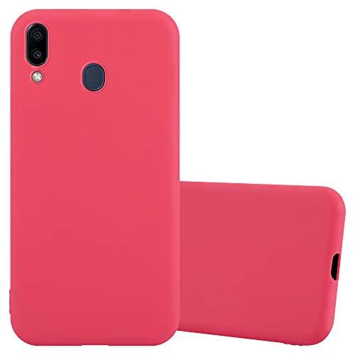 Cadorabo Hülle für Samsung Galaxy M20 in Candy ROT - Handyhülle aus flexiblem TPU Silikon - Silikonhülle Schutzhülle Ultra Slim Soft Back Cover Case Bumper