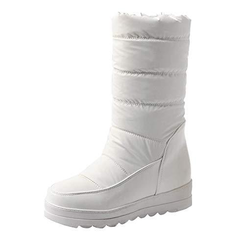 Bottes de Neige pour Femmes, Manadlian Bottes en Duvet Chaud Bottines à Talons Haute 3CM Imperméables Chaussures Boots